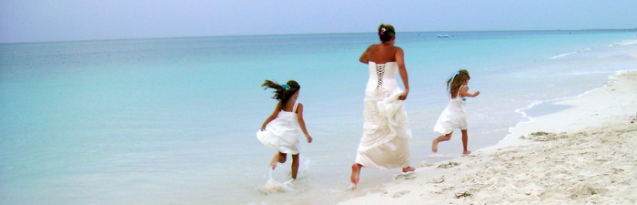 Grace Bay Beach runaway bride